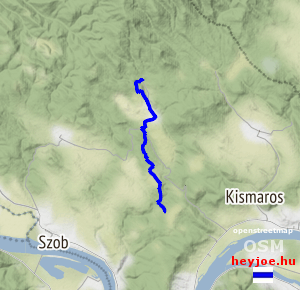 Törökmező turistaház-Kisinóci turistaház magasság